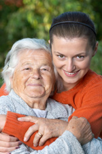 two generations, a grandmother and granddaughter